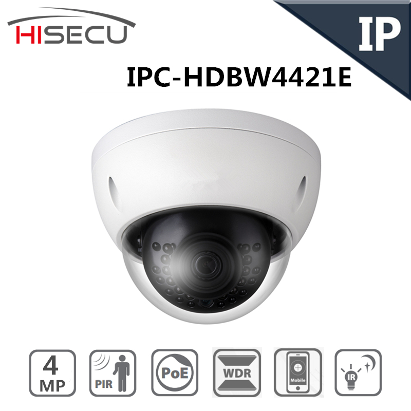 Dahua Neutral English IP Camera 4MP WDR Network Vandalproof IR Mini Dome IP Camera Fixed Lens  IPC-HDBW4421E<br><br>Aliexpress