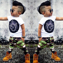 2017 New style summer Baby Clothing Sets Boy Cotton cartoon Short Sleeve 2pcs Baby boy and girl Clothes BCS187