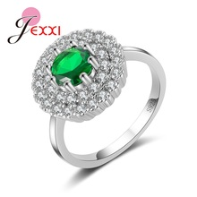 JEXXI Proposal Ring One Love In Life Forever 925 Sterling Silver Multi Zircons Fashion Rings Jewelry Women Wedding Decoration(China)