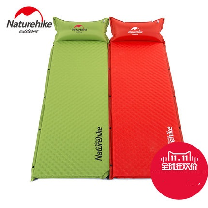 camping tent moisture-proof pad single inflatable cushion outdoor thickening inflatable bed folding sleeping pad<br><br>Aliexpress