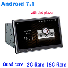 10.2inch 2Din 1024*600 Android 7.1 Car PC Tablet dvd player two din Universal GPS Navigation bluetooth Radio Stereo Audio Player(China)