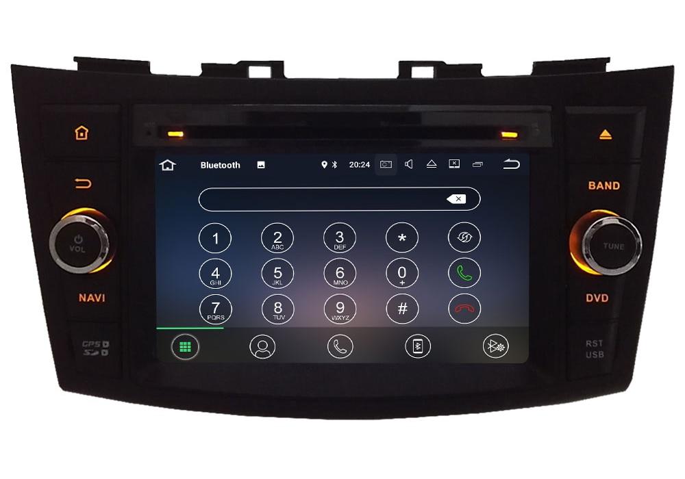 "2GB RAM 7"" Android 7.1.2 Quad Core 4G Wifi SWC DAB+ Car Multimedia DVD Player Radio GPS Navi Stereo For Suzuki Swift 2011-2015"