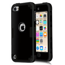For iPod Touch 5 Cover Shockproof Protective Case Hard Soft Silicone Armor Full Body Cases For iPod Touch 5/Touch 6