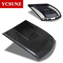 2015-2017 Black Bonnet Scoop Hood Cover for Mitsubishi l200 Triton Pajero Sport Bonnet Hood Cover For Mitsubishi 2016 For Ycsunz(China)