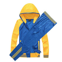 New Unisex Basketball Clothing Set Hooded Jacket Sports Long Pants Two piece Sets Women Mens Coat Spring Autumn Training Wear(China)