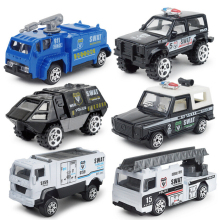 Hot 1:87 scale wheel diecast city super policeman Vehicle swat police armor car ladder truck metal model Collection for kid toys
