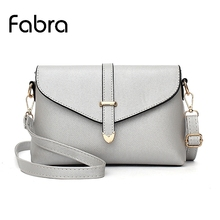 Fabra Women Messenger Bags Pu Leather Flap Women Handbag Diamond Lattice Shoulder Bags Grey Solid Small CrossBody Bag 27*7*17 CM