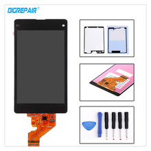 High Quality Black For Sony Xperia Z1 Mini Compact D5503 M51W LCD Display Digitizer Monitor Touch Screen Assembly+Tools+Adhesive(China)