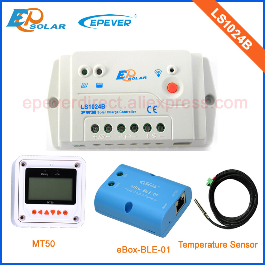 Solar power controller PWM EPsolar LS1024B with MT50 BLE box connect mobile phone and USB cable 10a 12v 24v<br>