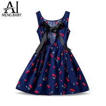 New Designs Kids Clothes 2017 Summer Toddler Girl Sundress Floral Kids Casual Dresses For Baby Girls Party Wear Children Costume(China)