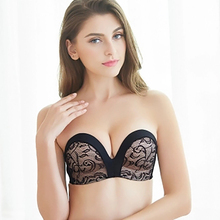 Buy 1pc Sexy Blackless Bra Women Push Lingerie Clear Back Brassiere 1/2 Cup Seamless Invisible Bras Underwear Strapless #D