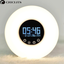 Wake-Up Led Light with Sunrise Simulation Digital Led Display Alarm Clock Night Light Temperature RGB Color Led Smart Clock Lamp