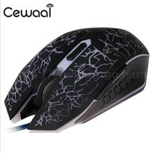 Cewaal USB Wired Gaming Game Mouse 7 LED Color Adjustable Optical 4000DPI 6 Buttons  Mice Notebook Gaming Mouse