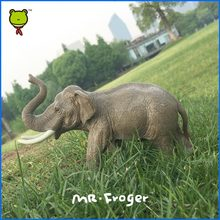 Mr.Froger Elephant model toy  Classic Children modeling zoo wild animals toys set PVC Dolls Solid plastic PVC Science Education