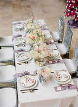 Hot Sale!Select Your Size-60''x102'' Sequin Tablecloth, White Glitz Sequin Wedding Tablecloth