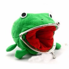 Naruto Cute Green Frog Coin Bag Cosplay Props Plush Toy Purse Wallet Funny Gift Sundries Money Bag