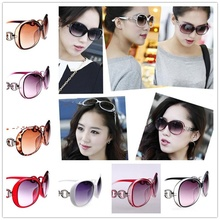 Brand OULAIOU High Quality AAAAA Classic Luxury Big Round Frame Shades Sun Glasses for Women's Fashion UV400 Sunglasses 9509