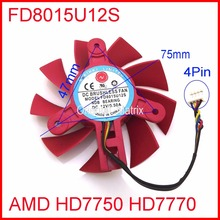 Buy Free NTK FD8015U12S DC12V 0.50A 4Pin 75mm 47x47x47mm AMD HD7750 HD7770 Graphics/Video Card Cooling Fan for $14.24 in AliExpress store