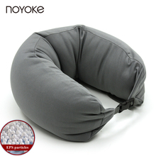 NOYOKE Japanese-style Polystyrene EPS Particles U-shape Pillow Travel Neck Pillow Cotton Nylon Comfortable Neck Pillow(China)