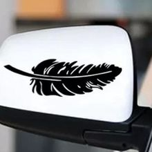 Feather Car Decal Color Black White Red Reflective Vinyl Material Electrochromic Film  Cars Accessories Moto Stickers For Car