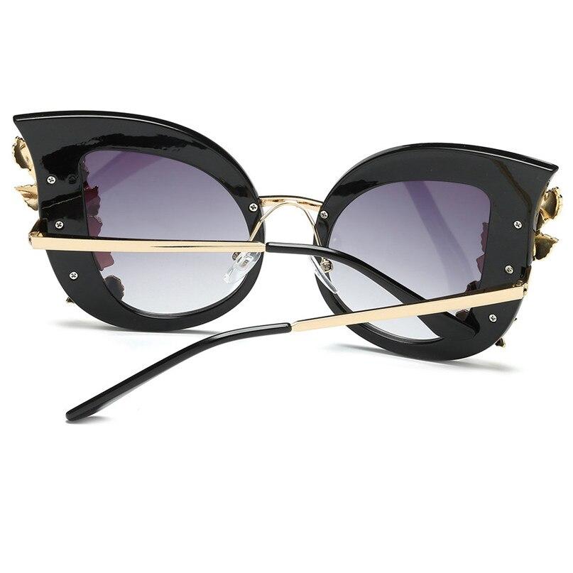Sport Sunglasses Cycling Eyewear Womens Fashion Artificial Diamond Cat Ear Metal Frame Brand Classic Sunglasses #2J06#F (1)