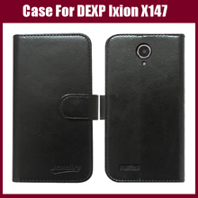 New Customized Flip Leather Smartphone Case For DEXP Ixion X147 Puzzle Cover Card Holder Wallet style 6 Colors In Stock