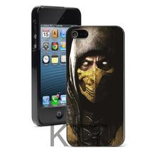 Scorpion en Mortal Kombat Design Tpu Nero cell phone bags case cover for iphone 4S 5S 5C SE 6S 7 PLUS IPOD Samsung IPOD HTC SONY