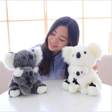 Dropshipping Adventure Koala Bear Plush Toys Mother and son Small Doll Stuffed Animals Kawaii Soft Birthday Gift for Kids(China)