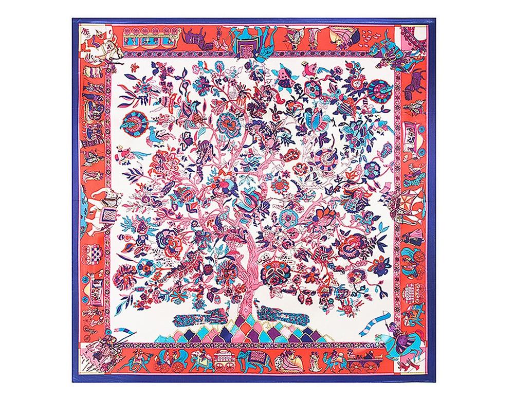 print Silk Scarf  (15)