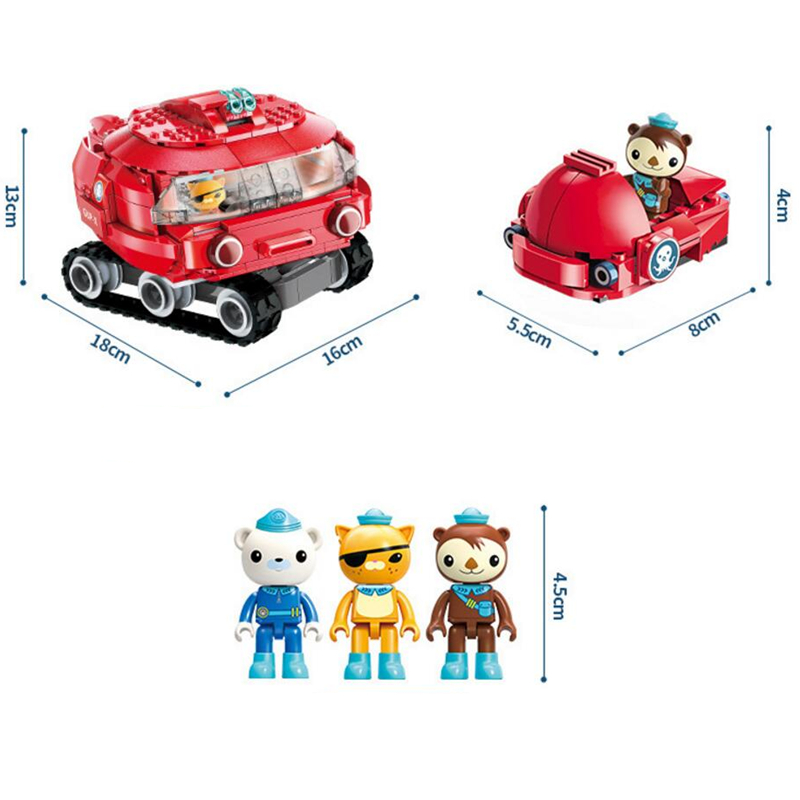 ENLIGHTEN-Ideas-Octopus-Horseshoe-crab-Octonauts-Cartoon-Building-Blocks-Sets-Brick-Model-Kids-Classic-Compatible-Legoings