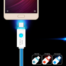 BTOD Type C USB Cable LED Light Usb C For Nokia N1 Huawei P9 Nexus Lumia 950 XL Lenovo Xiaomi ZTE Meizu Letv Charger Type-c Wire(China)