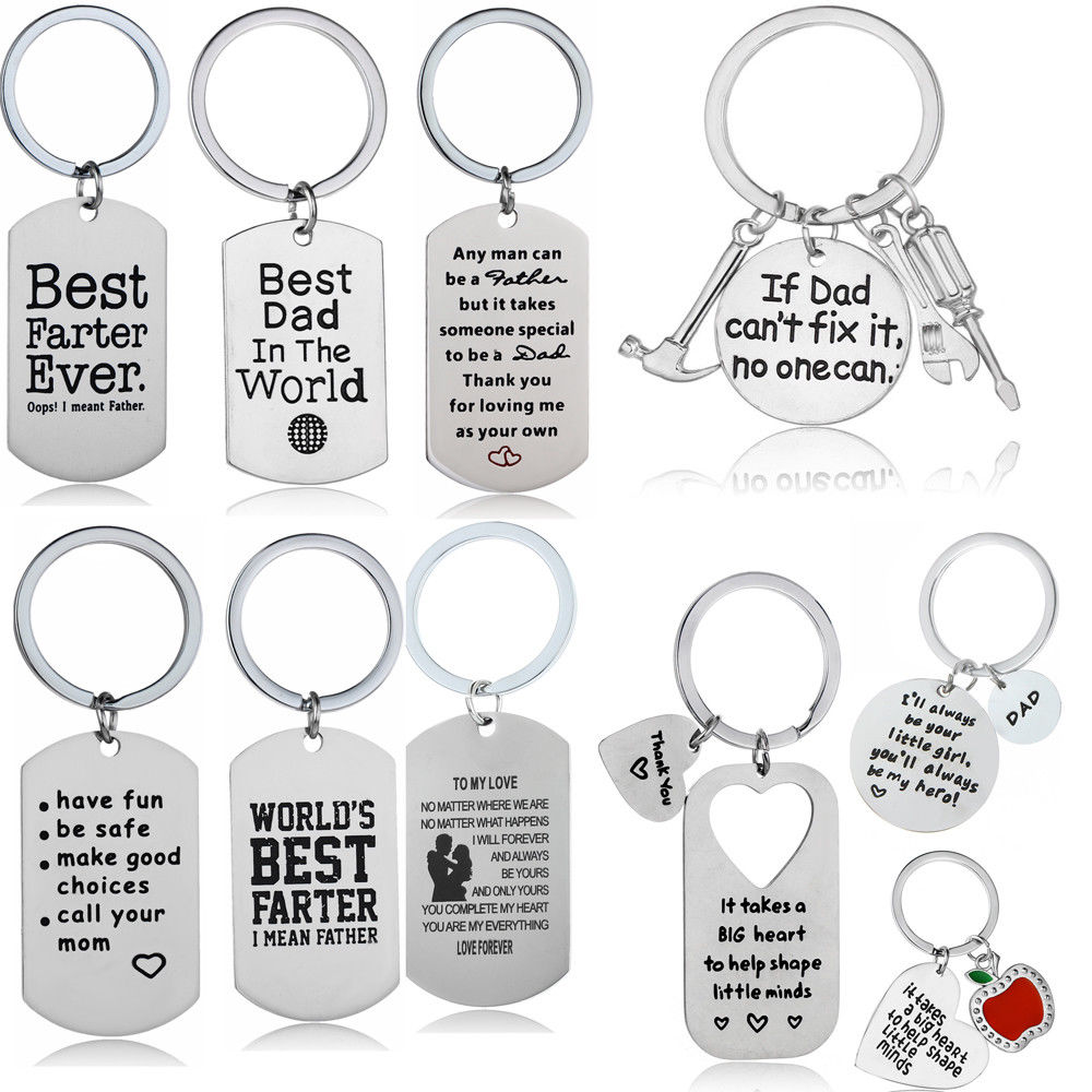 My Dad Keyring Family Key Chain Gifts for Him