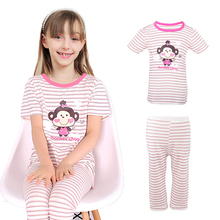 Pajama For Girls Summer Cotton Casual Children Clothing Good Quality Big Kids Pajama Sets Girls Clothing Sets Baby Clothes 4-14Y