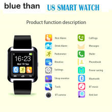 Blue Than Bluetooth Smart Watch U8 Wrist Watch U8 SmartWatch For IOS Android  smart Phone watch