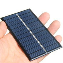 Big Sale 500PCS/Lot 1W 6V Mini Solar Panel With Cable Epoxy Solar Cell DIY Small Solar Charger For 3.7V Battery Education Kits