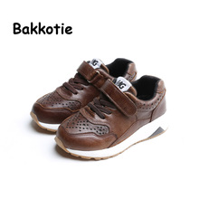 Bakkotie 2017 Fashion Leather Baby Spring Autumn Boy Casual Children Sport Shoe Breathable Kid Brand Sneaker Trainer Leisure(China)