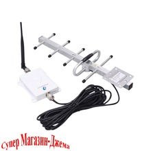 70dB 700MHz Single Band Booster Verizon 4G LTE Yagi and Whip Antenna with Black Cable Cell Phone Signal Repeater Amplifier