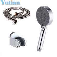 high quality hand shower set 5-function hand shower with switch +1.5M stainless steel shower hose +holder shower accessories