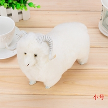 small cute simulation sheep toy plastic&fur sheep doll gift about 20x9x16cm a49(China)