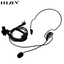FREZEN 2 Pin Earpiece Mic Finger PTT Headset for Kenwood BAOFENG Radios UV-5R 777 888s HYT PUXING High Quality(China)