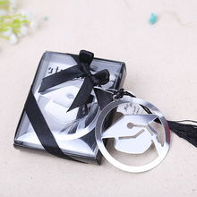 Free shipping 20pcs graduation cap bookmark with Elegant black tassel graduate party and gifts party souvenirs(China)
