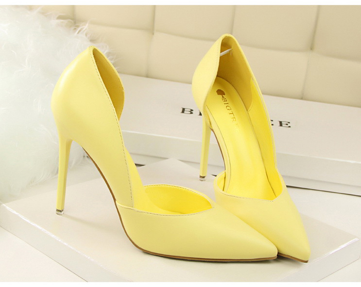 Women Pumps Fashion High Heels Shoes Black Pink Yellow Shoes Women bridal Wedding Shoes Ladies 23