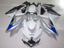 Fairing kit for Suzuki GSXR600 GSXR750 2008 2009 2010 blue white black fairings set K8 08 09 10 GSXR 600 750 BM85