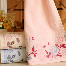 High Quality Bathroom supplies Face Towel Cotton Roses Printed Towels Quick Absorbent Compressed Towel(China)