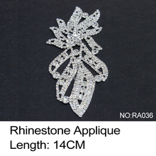 2017 Sale Time-limited Ra036 Rhinestone Applique 3pcs/lot Crystal Clear And Silver Base Sew On Use For Wedding Dress Ornament