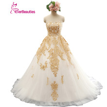 Wedding Dress Ball Gown Real Pictures Gold Appliques Sweetheart Lace Sexy Wedding Dress 2016 Robe De Mariage
