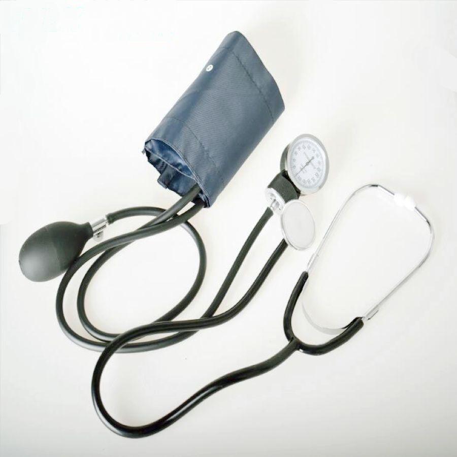 New Household Upper Arm Blood Pressure Meter Cuff Stethoscope Sphygmomanometer Kit Portable Medical Measurement Health Care<br>
