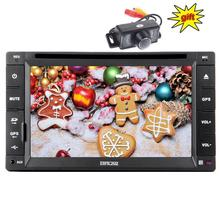 Eincar Double 2 Din In Dash Car Dvd GPS Navigation Player car radio gps subwoofer/Bluetototh/USB/SD/DVD Car Stereo+Backup Camera