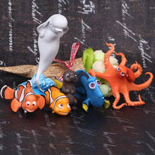 6 / set 3.5-11cm Disney Finding Nemo 2   clownfish Nimoduoli hand do doll ornaments Bruce octopus
