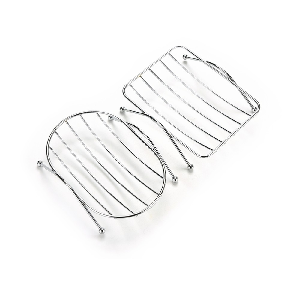 Stainless Steel Soap Stand Holder Functional Bathroom Stainless Soap Dishs Tray Box 12.5*9*3.5cm High Quality